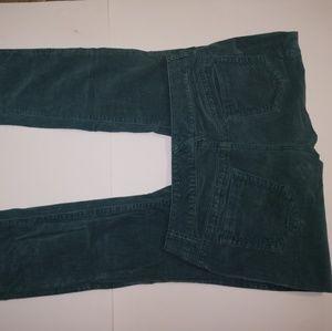 Maurices Slim Skinny Green Corduroy Pants Dress